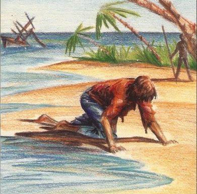 Un moderno Robinson Crusoe alla deriva: se la caverà?